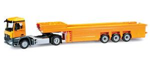 【送料無料】模型車 モデルカー スポーツカー トラックコンクリートパーツオレンジherpa lkw mb arocs s betonteilesz orange