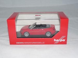 【送料無料】模型車 モデルカー スポーツカー アウディカブリオレブリリアントレッドherpa 070805 audi a3 cabrio brillantrot 143 neu ovp