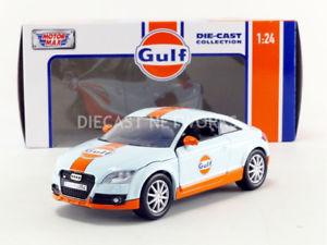 【送料無料】模型車 モデルカー スポーツカー ヒートアウディmotormax 124 audi tt gulf 79645