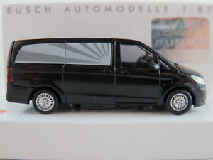 【送料無料】模型車 モデルカー スポーツカー ブッシュブラックメルセデスベンツbusch 51131 mercedesbenz vito bestattungsfahrzeug in schwarz 187h0 neuovp
