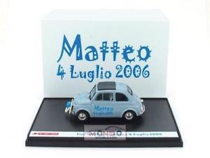 【送料無料】模型車 モデルカー スポーツカー フィアットハムfiat 500d 1960 matteo, 4 luglio 2006 brumm 143 s0701