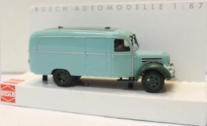 【送料無料】模型車 モデルカー スポーツカー ターコイズグリーンbusch 51801 robur garant k 30 kasten, trkisgrn