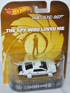 【送料無料】模型車 モデルカー スポーツカー レトロエンターテインメントロータスエスプリスパイホットホイールretro entertainment lotus esprit * 007 the spy who loved me * 164 hot wheels