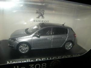 【送料無料】模型車 モデルカー スポーツカー プジョー143 norev peugeot 308 gris artense nr 473808 ovp