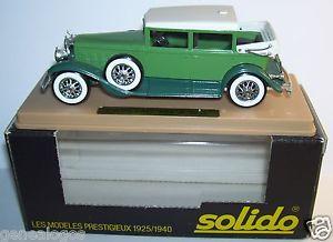 【送料無料】模型車 モデルカー スポーツカー キャデラックボックスage dor solido cadillac 452 a v16 1931 imperial landaulet verte 143 in box bis