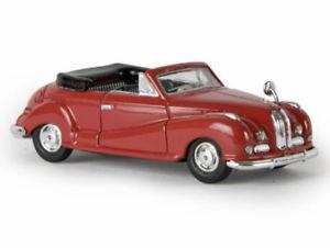 【送料無料】模型車 モデルカー スポーツカー カブリオレカーマインレッドbrekina 24501 bmw 502 cabrio karminrot rot von resina 187 neu