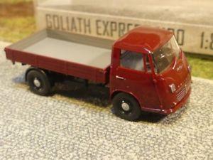 【送料無料】模型車 モデルカー スポーツカー ブッシュゴリアテエクスプレスピックアップレッド187 busch goliath express 1100 pritschenwagen weinrot 94202