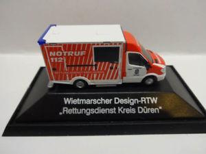 【送料無料】模型車 モデルカー スポーツカー レスキューサービスrietze 72039 was design rtw rettungsdienst kreis dren 187 neu