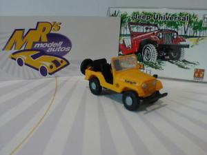 【送料無料】模型車 モデルカー スポーツカー イエロージープレネゲードユニバーサルarwico brekina 58905 jeep universal in gelb renegade 187 neu