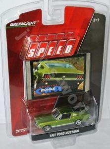 【送料無料】模型車 モデルカー スポーツカー フォードムスタンググリーンメタリックgreenlight speed 1967 ford mustang green metallic 164