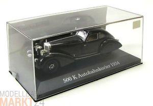 【送料無料】模型車 モデルカー スポーツカー メルセデススケールブラックモデルベンツmercedes benz 500 k autobahnkurier 1934 in schwarz modell im mastab 143 ovp