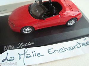 【送料無料】模型車 モデルカー スポーツカー ミニチュアアルファロメオスパイダーコレクションminiature alfa romeo spider 1999 143 norev collection