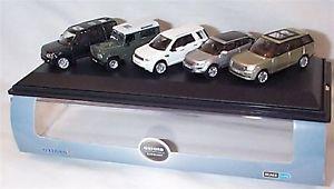 【送料無料】模型車 モデルカー スポーツカー ランドローバーケーススケールディフェンダーland rover range set of 5 evoque defender discovery in case 176 scale mib