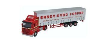 【送料無料】模型車 モデルカー スポーツカー オックスフォードサイドカーテンoxford haulage scania 143 curtainside sandy kydd 76s143004