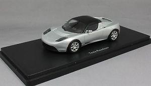 【送料無料】模型車 モデルカー スポーツカー シルバーテスラロードスターschuco pror tesla roadster in silver 450897600 143 resin