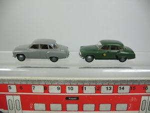 【送料無料】模型車 モデルカー スポーツカー モデルオペレータab650,5 2x brekina h0 pkwmodell wartburg 311, sehr gut