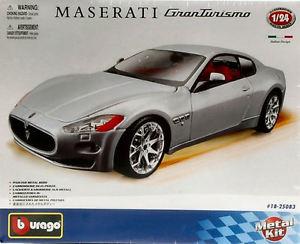 【送料無料】模型車 モデルカー スポーツカー マセラティマセラティグランツーリスモメタルキットモデルmaserati granturismo 2008 metal kit 124 model 25083 bburago