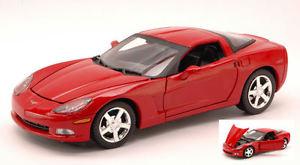 【送料無料】模型車 モデルカー スポーツカー コルベットモデルヒートcorvette c6 2005 red 124 model motormax