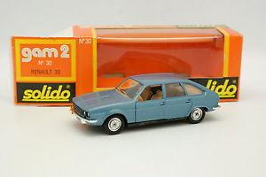 【送料無料】模型車 モデルカー スポーツカー ルノーsolido 143 renault 30 bleue 30