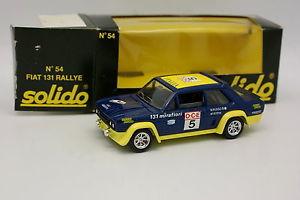 【送料無料】模型車 モデルカー スポーツカー フィアットラリーsolido 143 fiat 131 rallye du maroc 1976 54