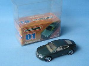 【送料無料】模型車 モデルカー スポーツカー マッチベントレーコンチネンタルグリーンボディアメリカモデルカーmatchbox bentley continental green body usa issue 40th boxed toy model car 75mm