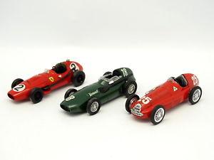 【送料無料】模型車 モデルカー スポーツカー ロットドフェラーリアルファロメオbrumm sb 143 lot de 3 f1 vanwall ferrari alfa romeo