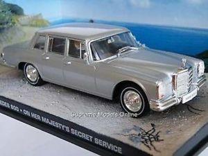 【送料無料】模型車 モデルカー スポーツカー ジェームスボンドメルセデスサービスミントボックスモデルjames bond mercedes 600 on her majestys s service mint boxed model ^^