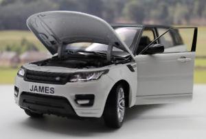 【送料無料】模型車 モデルカー スポーツカー レンジローバースポーツモデルpersonalised plates range rover sport boys toy dad model 124 boxed present gift