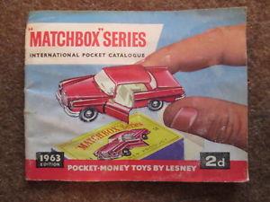 【送料無料】模型車 モデルカー スポーツカー マッチシリーズカタログoriginal matchbox series international catalogue 1963 lesney
