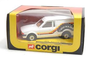 【送料無料】模型車 モデルカー スポーツカー コーギーフォードヴァンエスコートcorgi toys 503 ford escort van dunlop 1983 * mib *