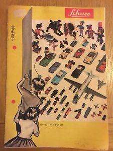 【送料無料】模型車 モデルカー スポーツカー ページカラーカタログschuco 1959 1960 16 page colour catalogue