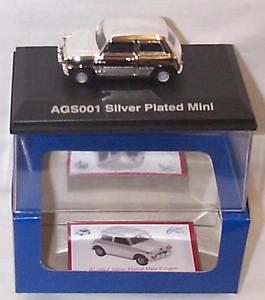 【送料無料】模型車 モデルカー スポーツカー ミニクーパースケールsilver plated mini cooper 143 scale mib ltd ed