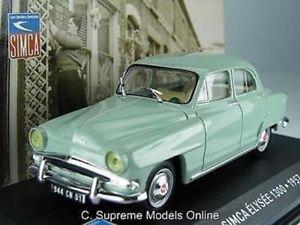 【送料無料】模型車 モデルカー スポーツカー モデルスケールグリーンカラースキームsimca elysee 1300 57 car model 143 scale green colour scheme example t3412z