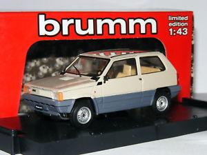 【送料無料】模型車 モデルカー スポーツカー フィアットパンダケニアベージュbrumm r38607 1980 fiat panda 45 kenya beige 143
