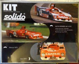 【送料無料】模型車 モデルカー スポーツカー モデルスケールアルファロメオkホワイトメタルキットsolido model 143 scale alfa romeo t33 1975 ref41k white metal kit