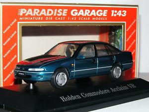【送料無料】模型車 モデルカー スポーツカー パラダイスガレージホールデンコモドールアクアメタリックparadise garage 91001 1993 holden commodore acclaim vr kira aqua metallic 143