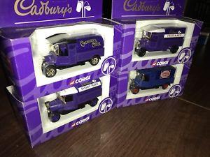 【送料無料】模型車 モデルカー スポーツカー コーギーダイカストローリーセットボックスセット boxed set of 4 corgi diecast cadburys lorry set from 1997 rare
