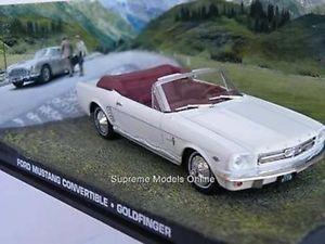 【送料無料】模型車 モデルカー スポーツカー フォードマスタングジェームスボンドゴールドフィンガーモデル#コネリーjames bond ford mustang car goldfinger model connery white open issue k8967q ~~