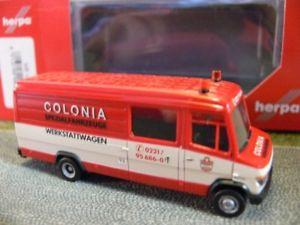 【送料無料】模型車 モデルカー スポーツカー メルセデスベンツコロニアロングボックス187 herpa mercedesbenz vario langkasten colonia 092418