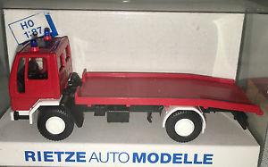 【送料無料】模型車 モデルカー スポーツカー フォードトラックレッカーrietze 60104 ford cargo lkw feuerwehr abschleppwagen, h0 187, neu ovp