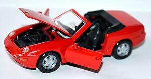 【送料無料】模型車 モデルカー スポーツカー ポルシェカブリオレレッドレッドporsche 968 cabriolet 199195 rot red 143 nzg