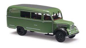 【送料無料】模型車 モデルカー スポーツカー ステーションワゴンボックスbusch 51850 h0 187 robur garant k 30 kombiwagen, grn neu in ovp