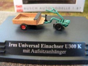 【送料無料】模型車 モデルカー スポーツカー ブッシュユニバーサルkmツァーハンガー187 busch irus universal einachser u300 k maufsitzanhnger 59912