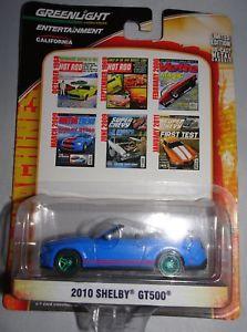 【送料無料】模型車 モデルカー スポーツカー ライトグリーンホイールシェルビーgreenlight 2010 shelby gt500 green wheels rare 164