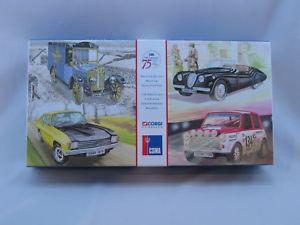 【送料無料】模型車 モデルカー スポーツカー コーギーメディアセットミントcorgi 05505 cmsa 75th anniversary 19231998 4 peice limited edition set mint