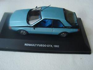 【送料無料】模型車 モデルカー スポーツカー ミニチュアルノー juin 2018 miniature renault fuego gtx 1982 bleue 143 solido