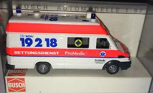 【送料無料】模型車 モデルカー スポーツカー busch 47907  iveco daily rd promedic karlsruhe, h0 187, neu ovp