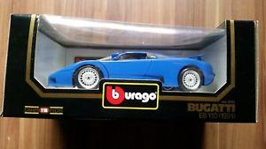 【送料無料】模型車 モデルカー スポーツカー ブガッティ118 bburago bugatti eb 110 1991 in ovp