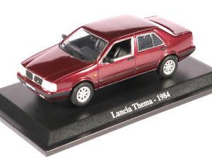 【送料無料】模型車 モデルカー スポーツカー ランチアテーマボルドーメタリック143 norev lancia thema berlina 1984 bordeauxmetallic