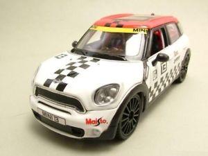 【送料無料】模型車 モデルカー スポーツカー ミニ#カスタムショップモデルカーbmw mini countryman 13 weirotschwarz, custom shop, modellauto 124 maisto